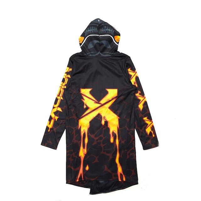 Excision x Scummy Bears Dye Sub Cloak - Black/Orange/Yellow