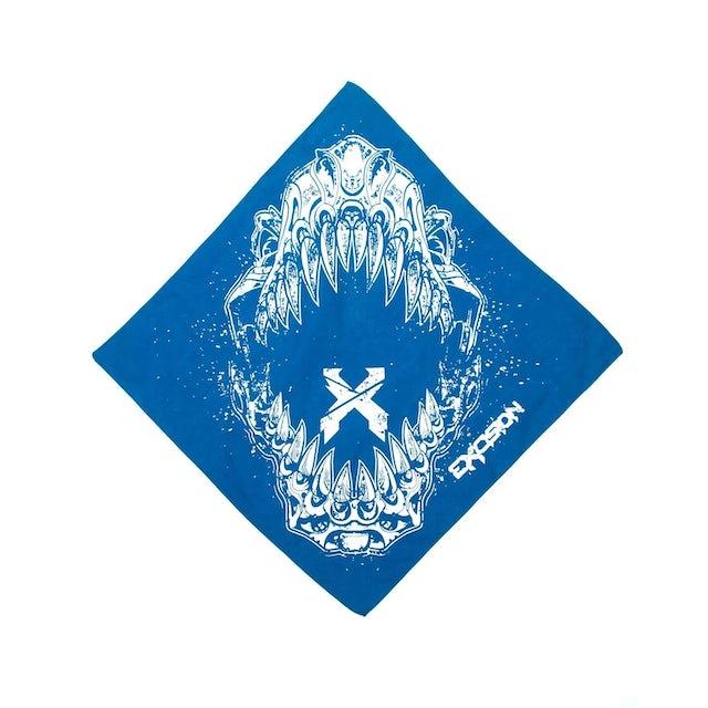 Excision 'Rex Jaw' Bandana - Blue
