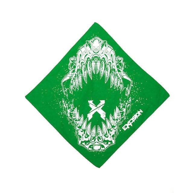 Excision 'Rex Jaw' Bandana - Green