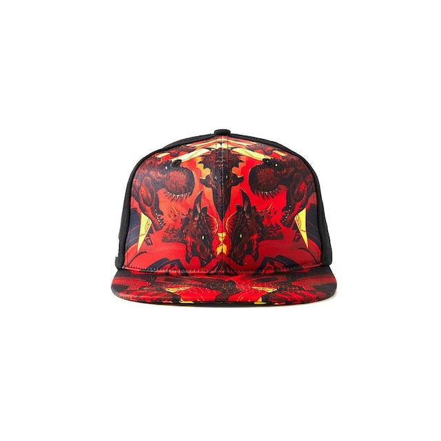 Excision 'DinoX' Snapback - Red/Orange