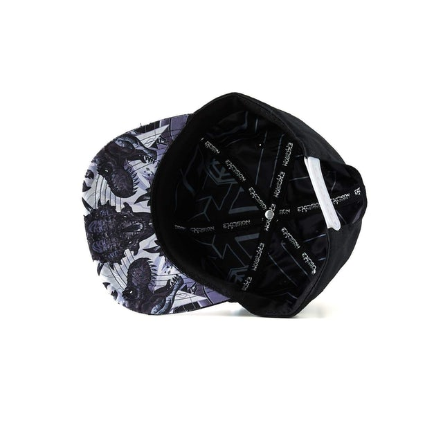 Excision 'DinoX' Snapback - White/Grey
