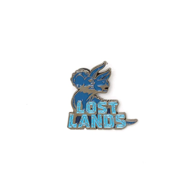 Excision Lost Lands 'Triceratops' Enamel Pin - Blue