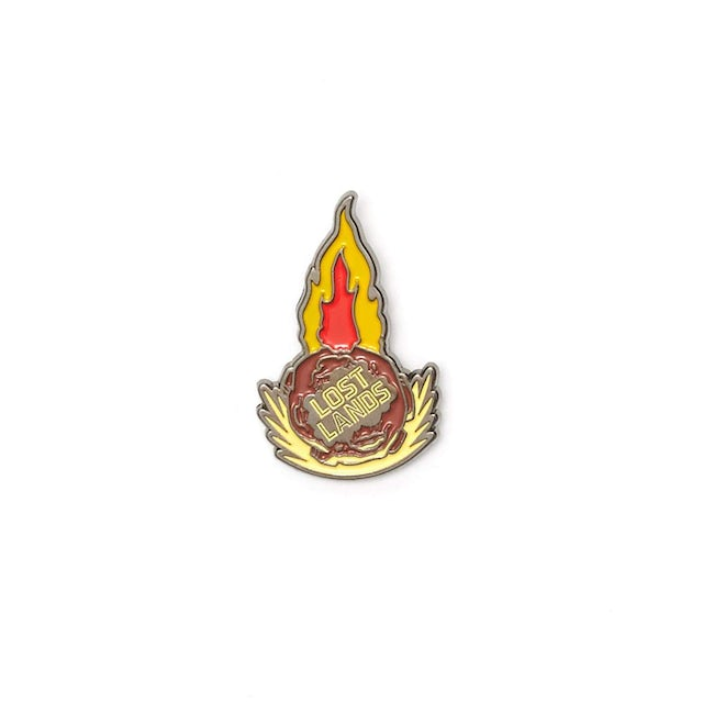 Excision 'Meteor' Enamel Pin - Red/Yellow