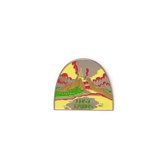 Excision Lost Lands 'Eruption' Enamel Pin - Yellow/Green/Red