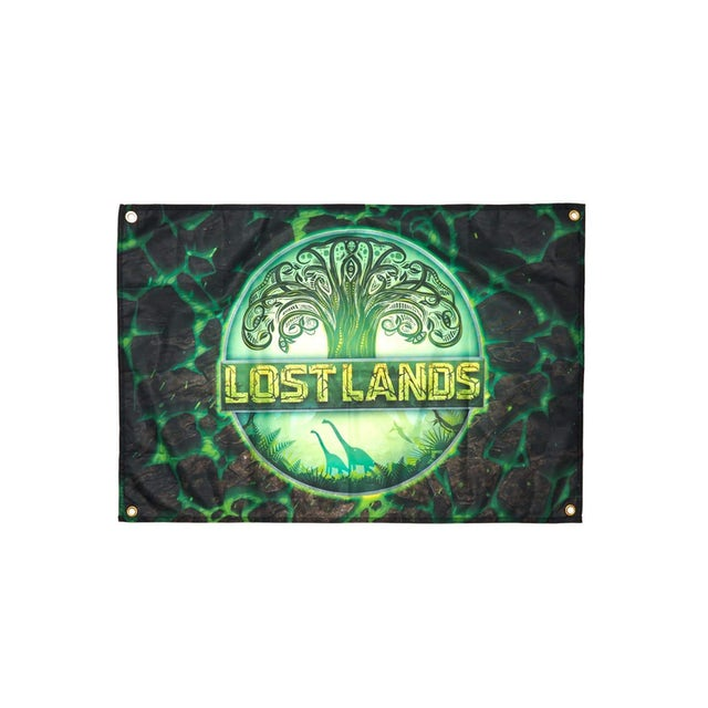 "Excision Lost Lands Flag - 36"" x 24"" - Green"