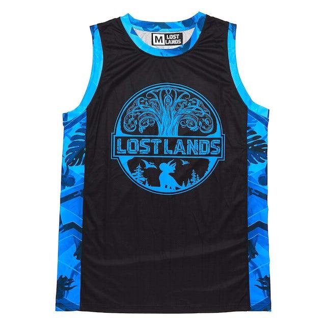 Excision 'Geo Foliage' Dye Sub Basketball Jersey - Blue