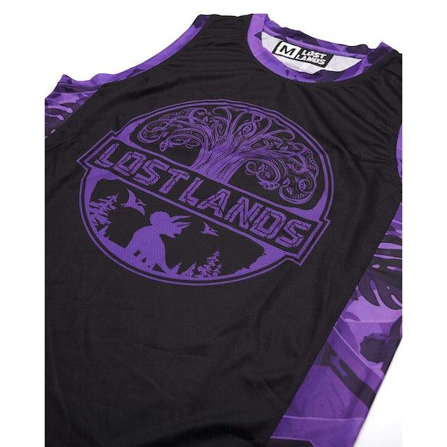 Excision 'Geo Foliage' Dye Sub Basketball Jersey - Purple
