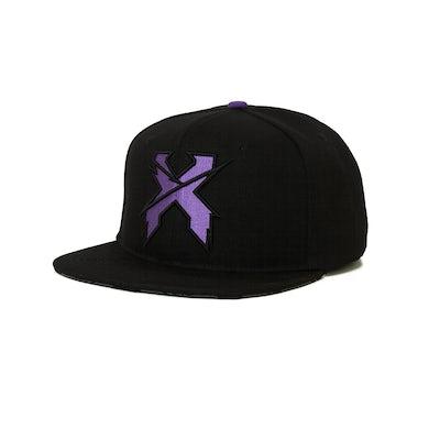 Excision 'Sliced' Snapback - Black/Purple