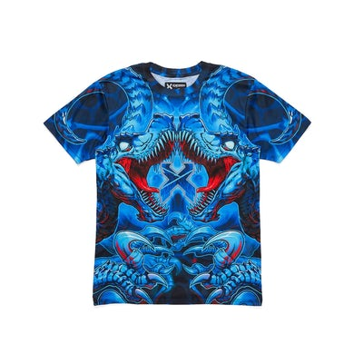 Excision 'Raptor Attack' Dye Sub Tee - Blue