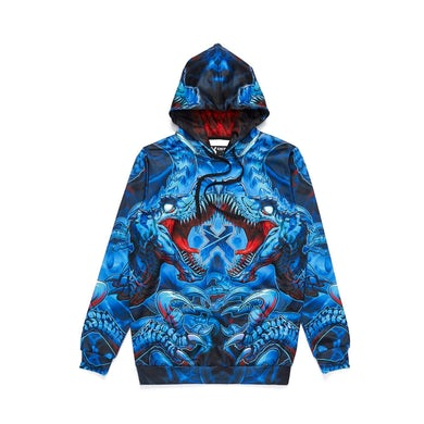 Excision 'Raptor Attack' Dye Sub Hoodie - Blue