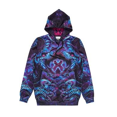 Excision 'Raptor Attack' Dye Sub Hoodie - Nebula