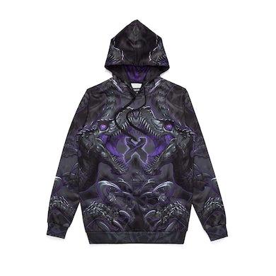 Excision 'Raptor Attack' Dye Sub Hoodie - Purple