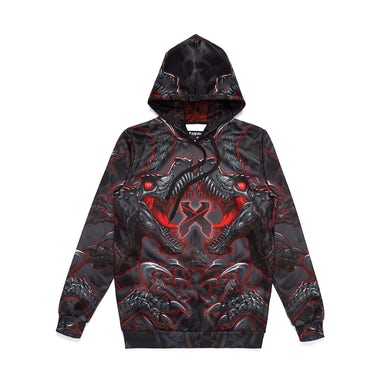 Excision 'Raptor Attack' Dye Sub Hoodie - Red