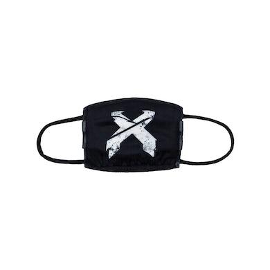 Excision 'Sliced' Logo Face Mask - Black/White