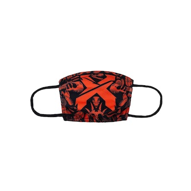Excision 'Fossil Rex' Face Mask - Red/Black