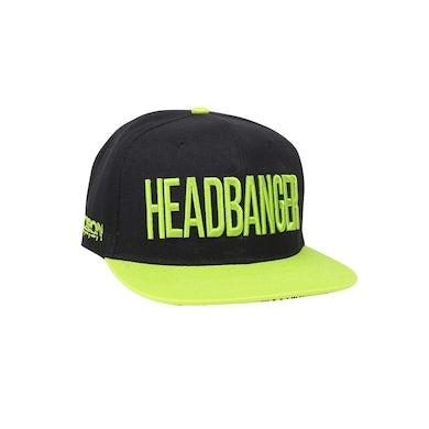 Excision 'Headbanger' Snapback - Black/Neon Green