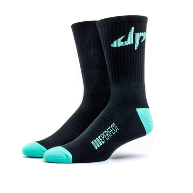 Dude Perfect Black // Green Socks
