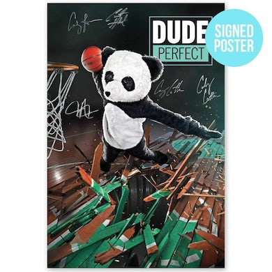 Dude Perfect Epic Panda Poster [AUTOGRAPHED]