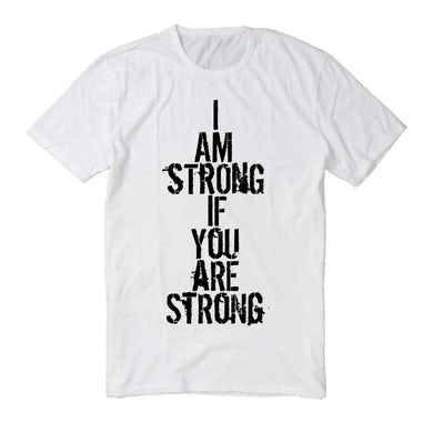 Dispatch 'I Am Strong if You Are Strong' Charity T-Shirt - White