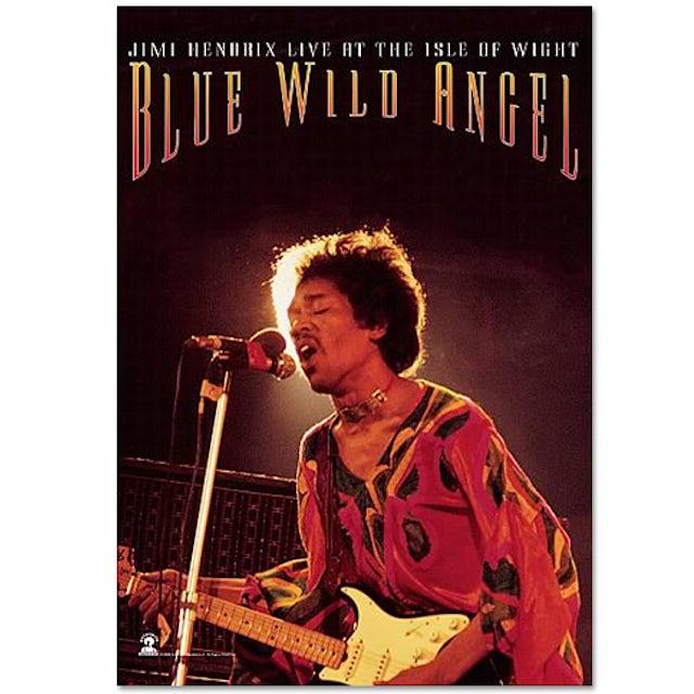 Jimi Hendrix Blue Wild Angel Wall Tapestry