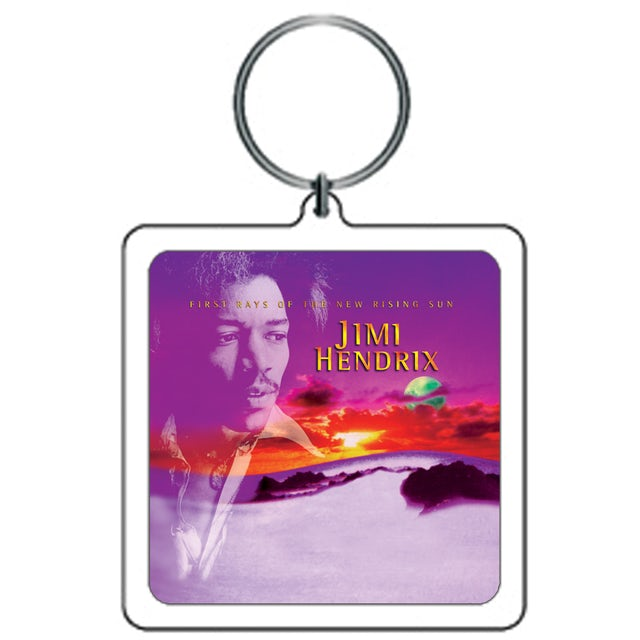 Jimi Hendrix Keychain First Rays Of The New Rising Sun
