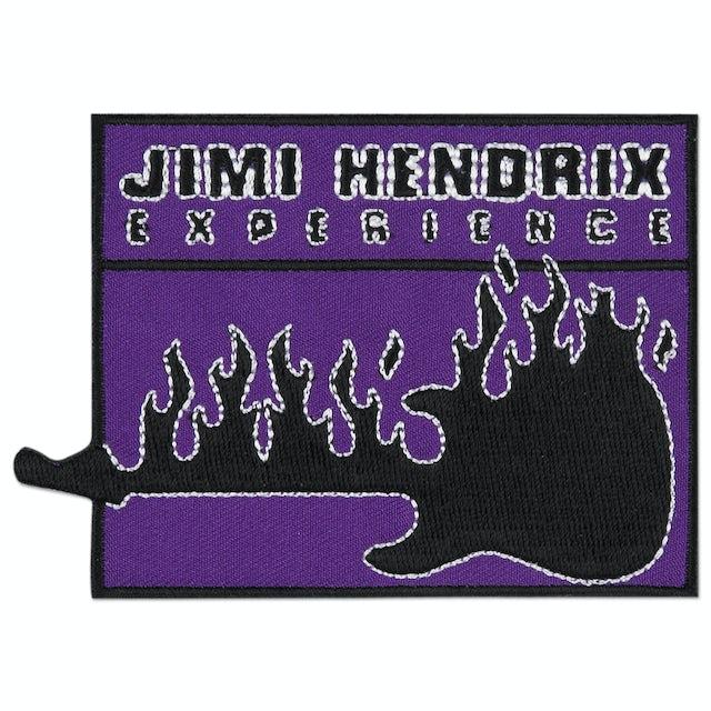 Jimi Hendrix Flaming Guitar Patch