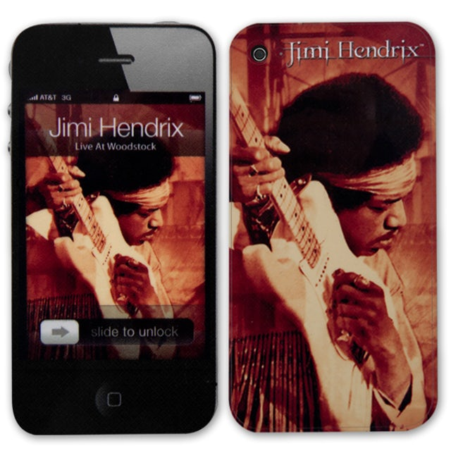 Jimi Hendrix Woodstock iPhone 4/4S Skin