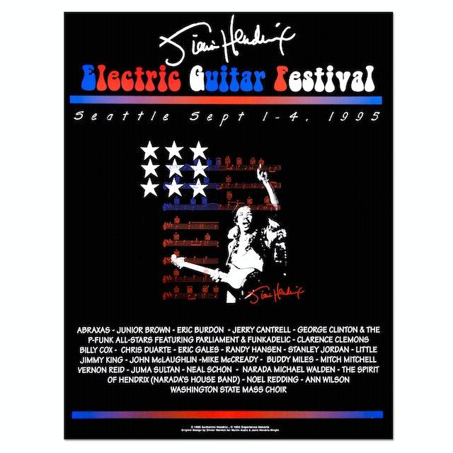 1995 Jimi Hendrix Electric Guitar Festival Poster