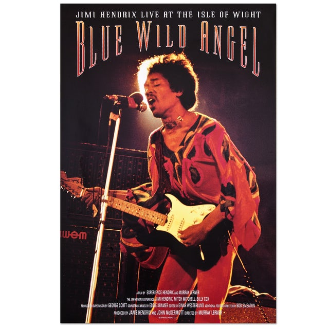 Jimi Hendrix Blue Wild Angel (Original Movie) Poster