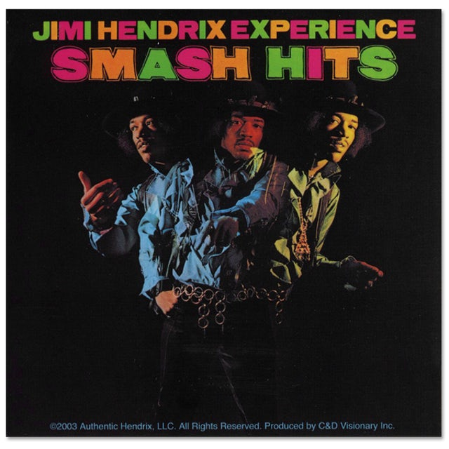 Jimi Hendrix Smash Hits Sticker