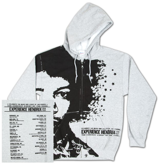Jimi Hendrix Experience Hendrix 2014 Grey Hoodie