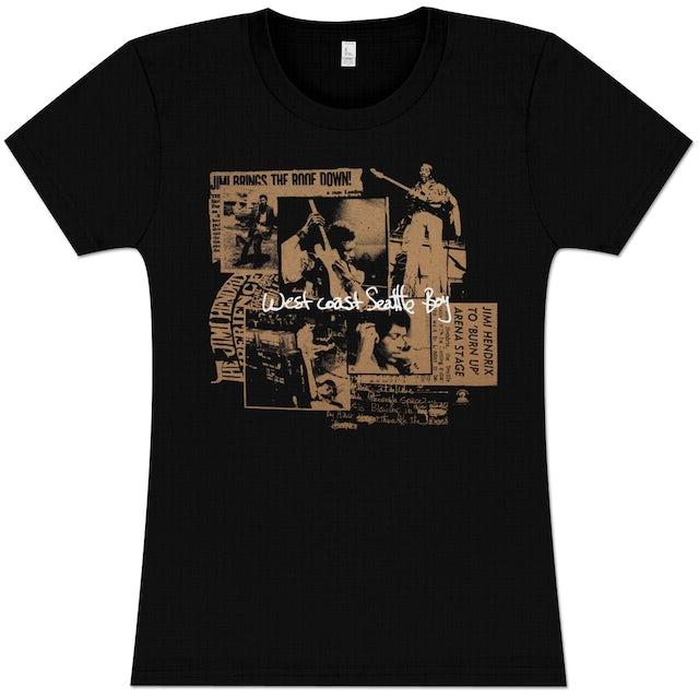 Jimi Hendrix Seattle Boy Ladies T-Shirt
