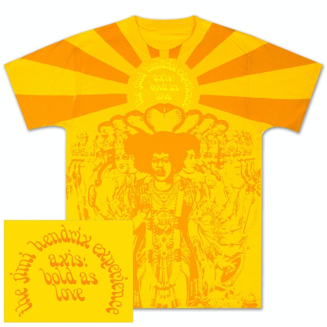 Jimi Hendrix: Bold As Love Gold T-Shirt