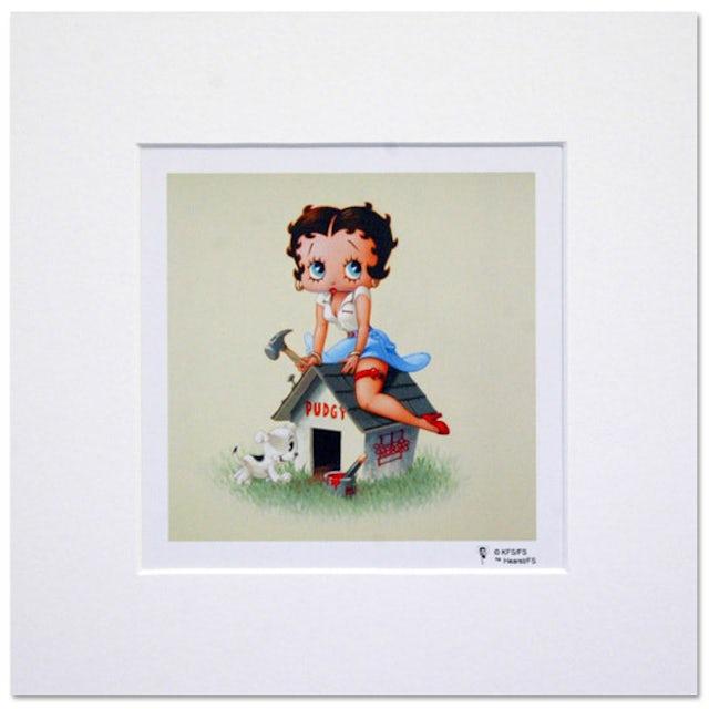 Betty Boop Dog House 8inch x 8inch Print