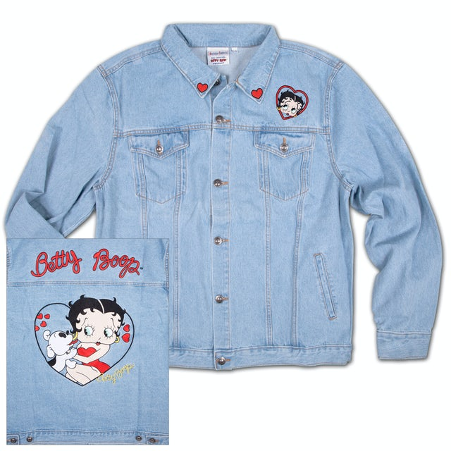 Betty Boop and Pudgy Denim Jean Jacket