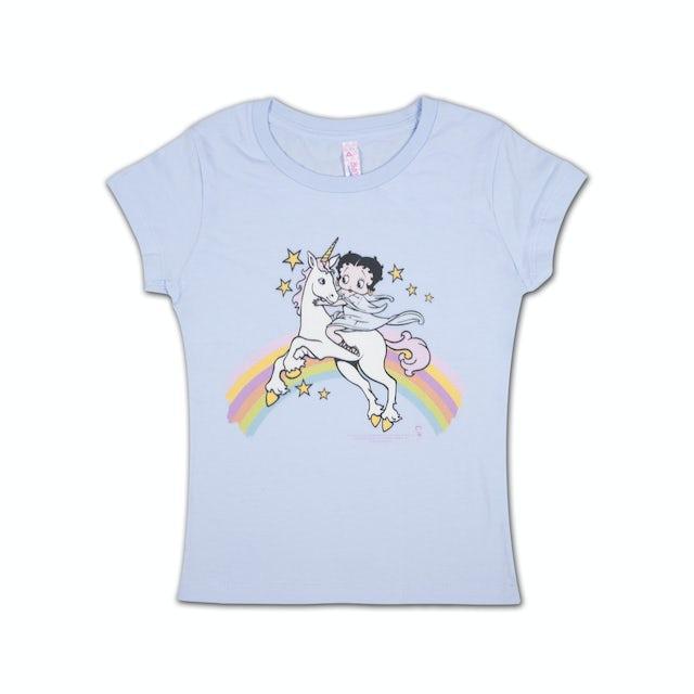 Betty Boop Rainbows and Unicorns Girls T-shirt