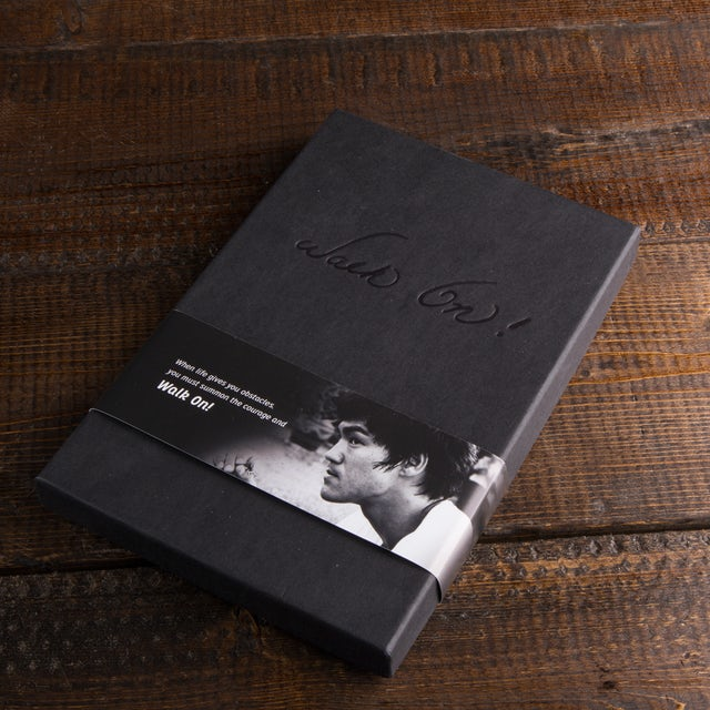 "Bruce Lee ""Walk On!"" Journal + Engraved Pen Bundle"