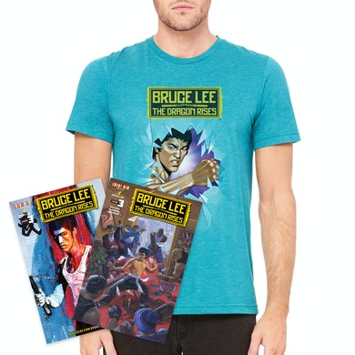 Bruce Lee The Dragon Rises Issue #3 – both cover variants + T-Shirt