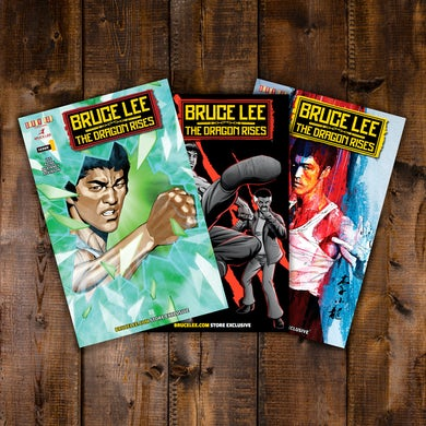 Bruce Lee The Dragon Rises  – 3 Covers Bundle