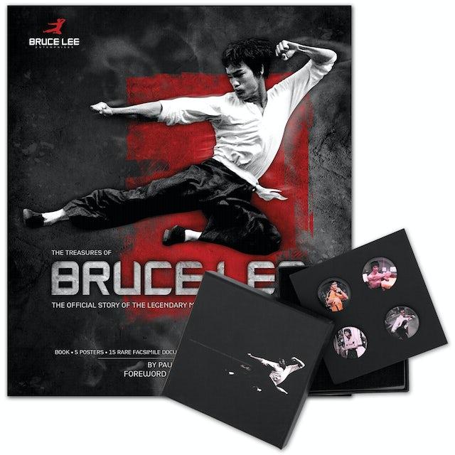 The Treasures of Bruce Lee Book/Bruce Lee LTD Edition Color Lapel Pin Set Bundle