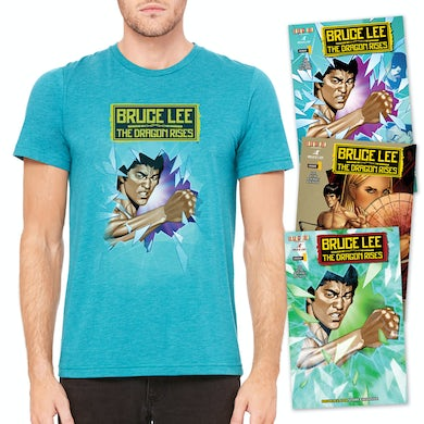 Bruce Lee The Dragon Rises Issue #1 – 3 Covers and T-Shirt Bundle