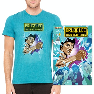 Bruce Lee The Dragon Rises Issue #1, Cover 1 and T-Shirt Bundle
