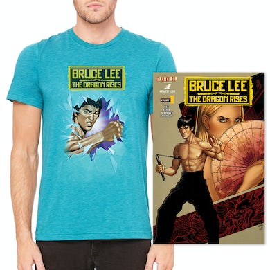 Bruce Lee The Dragon Rises Issue #1, Cover 2 and T-Shirt Bundle
