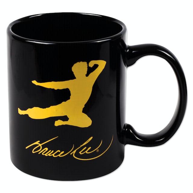 Bruce Lee Flying Man Black Mug