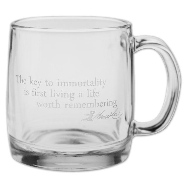Bruce Lee Etched Glass Mugs (Set of 4)