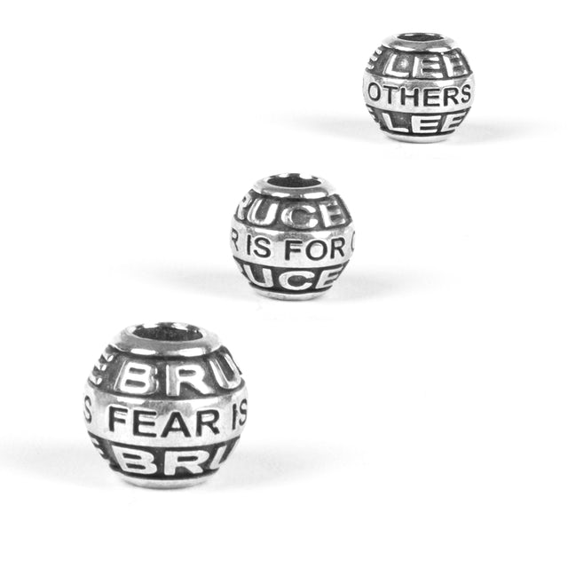 Bruce Lee Fear is for Others Quote Bead