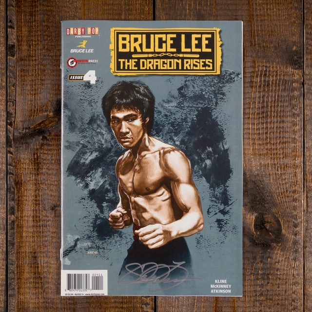 Bruce Lee The Dragon Rises Issue #4 Signed Cover