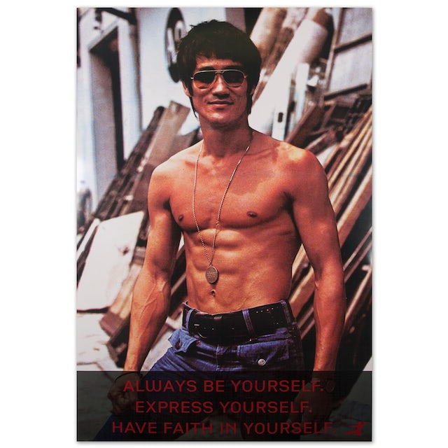 Bruce Lee Sunglasses w/ Quote Poster