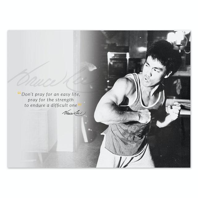 Bruce Lee Pray for Strength Poster