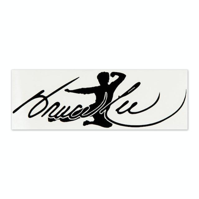 Bruce Lee Signature Flying Man Sticker